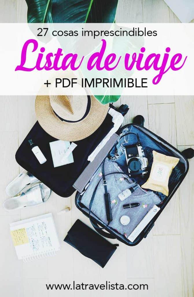Lista de viaje: qué llevar en la maleta