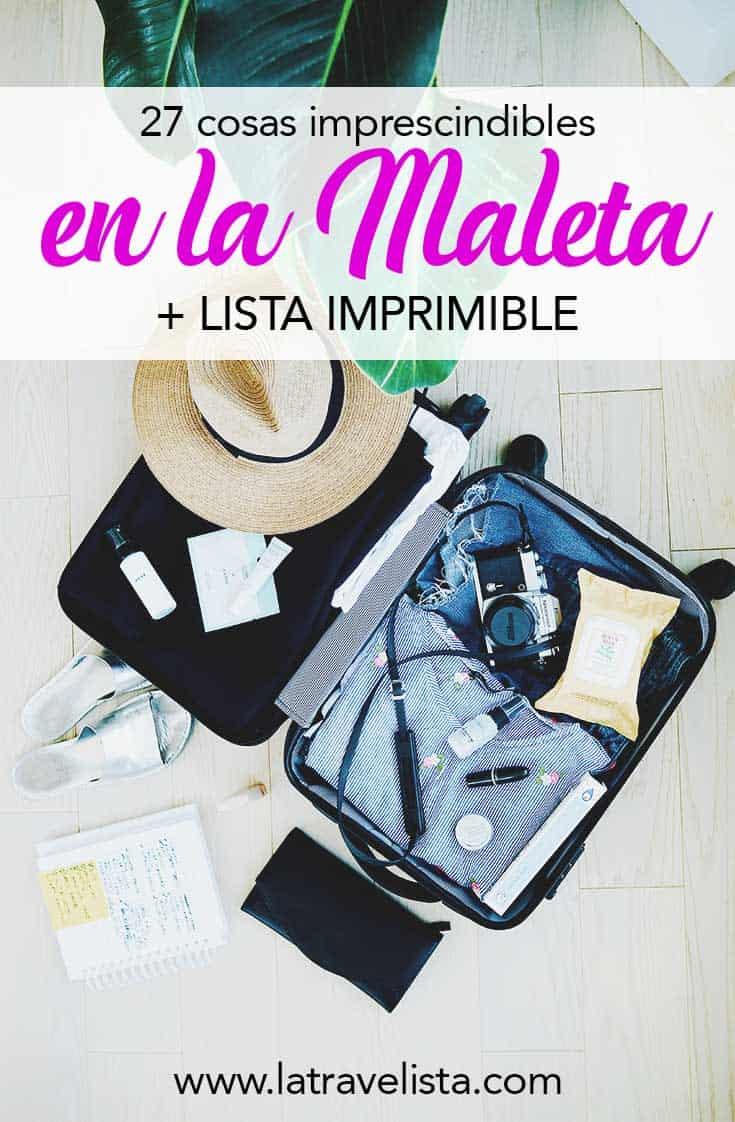 b7abc929f31 Qué llevar en la maleta  27 cosas básicas (+ Lista de Viaje PDF 2019)