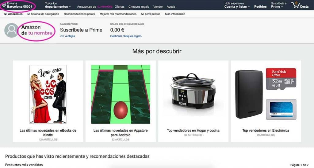 Aparecen datos en Amazon, paso 3