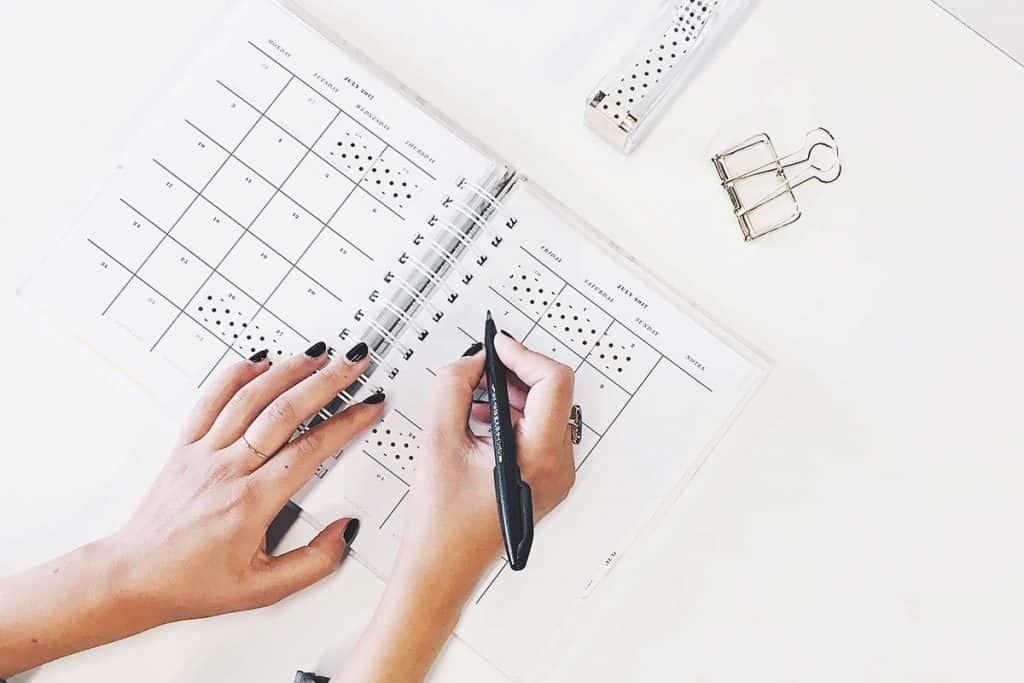 Una agenda bonita para planificar tu año