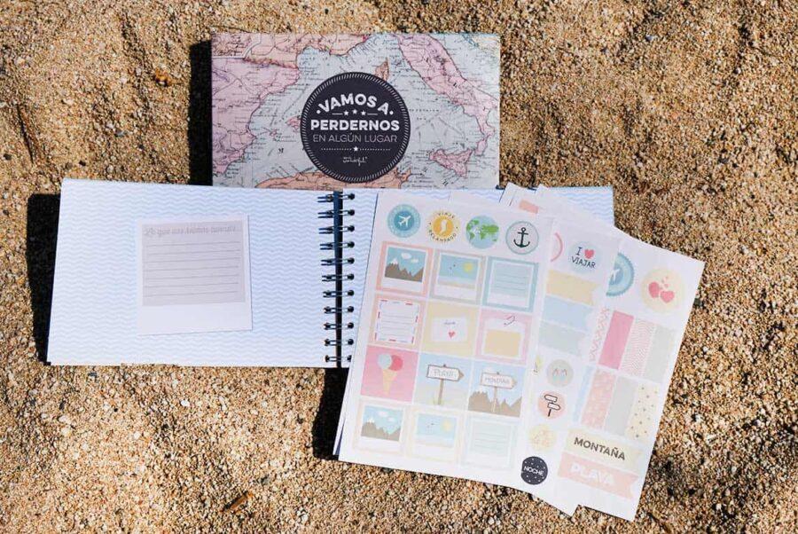 Regalo para amigas viajeras: album de fotos con petaginas