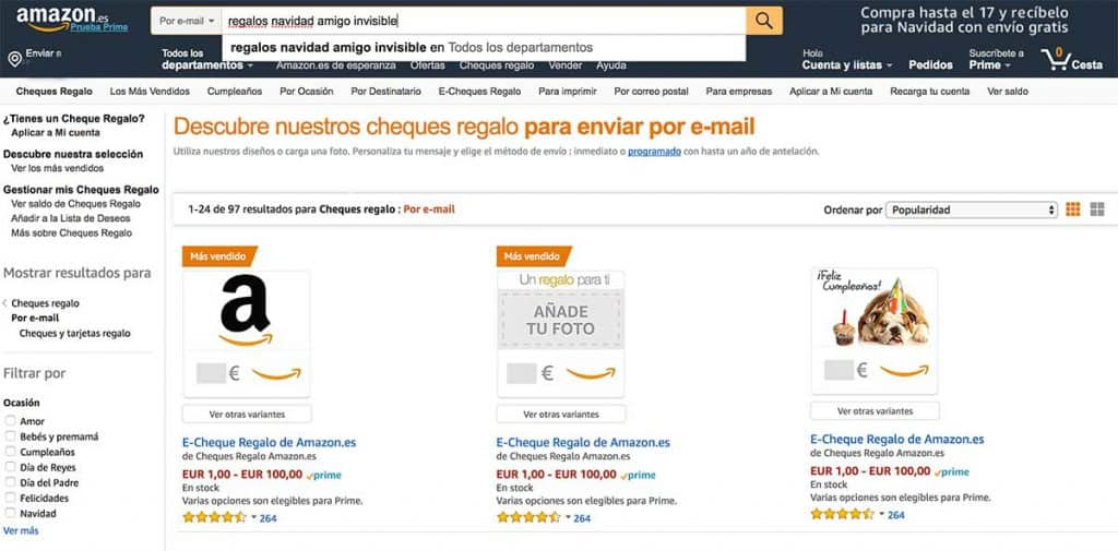 Regalos amigo invisible en amazon