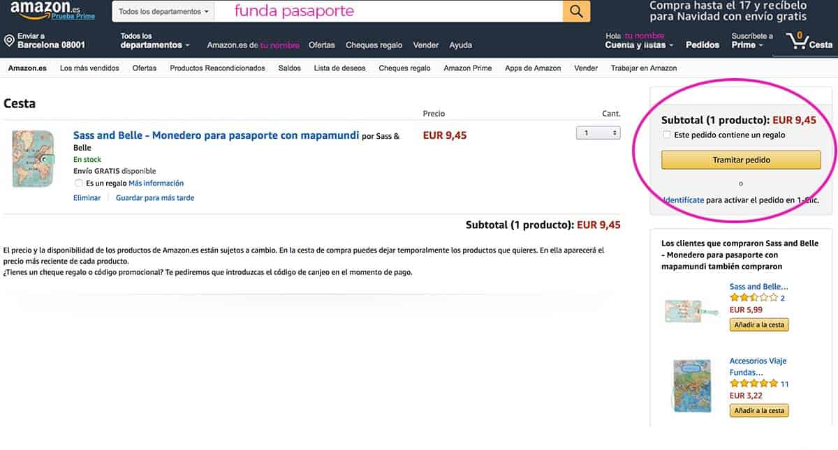 CODIGO AMAZON MINIMA COMPRA