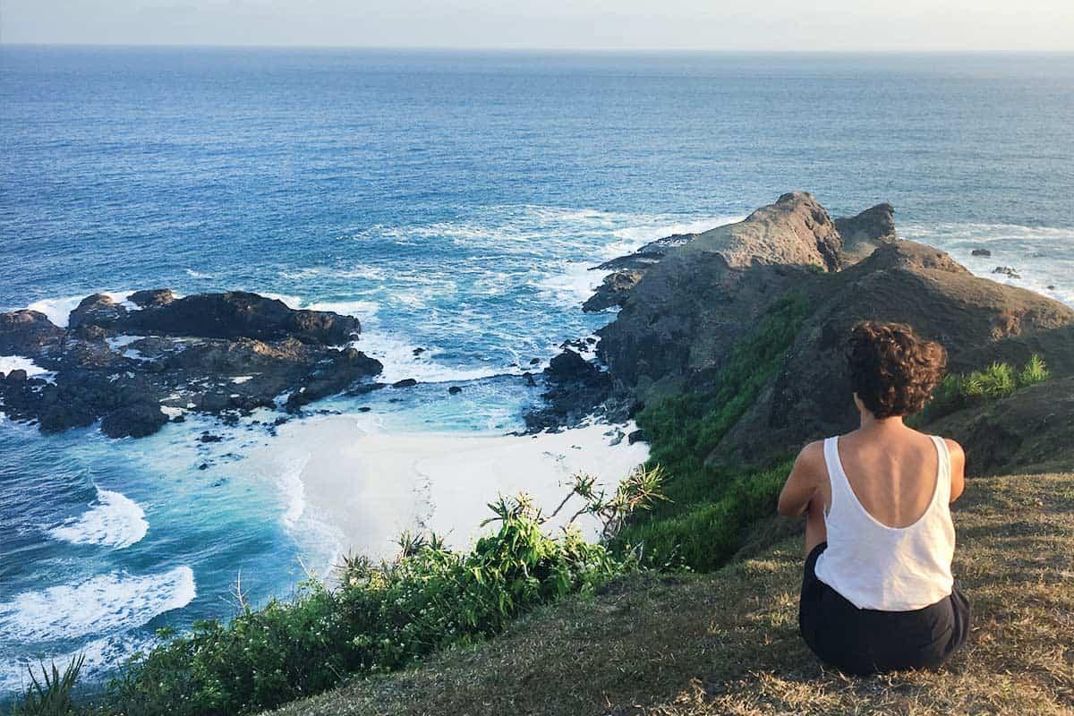 Disfrutando las vistas en Lombok