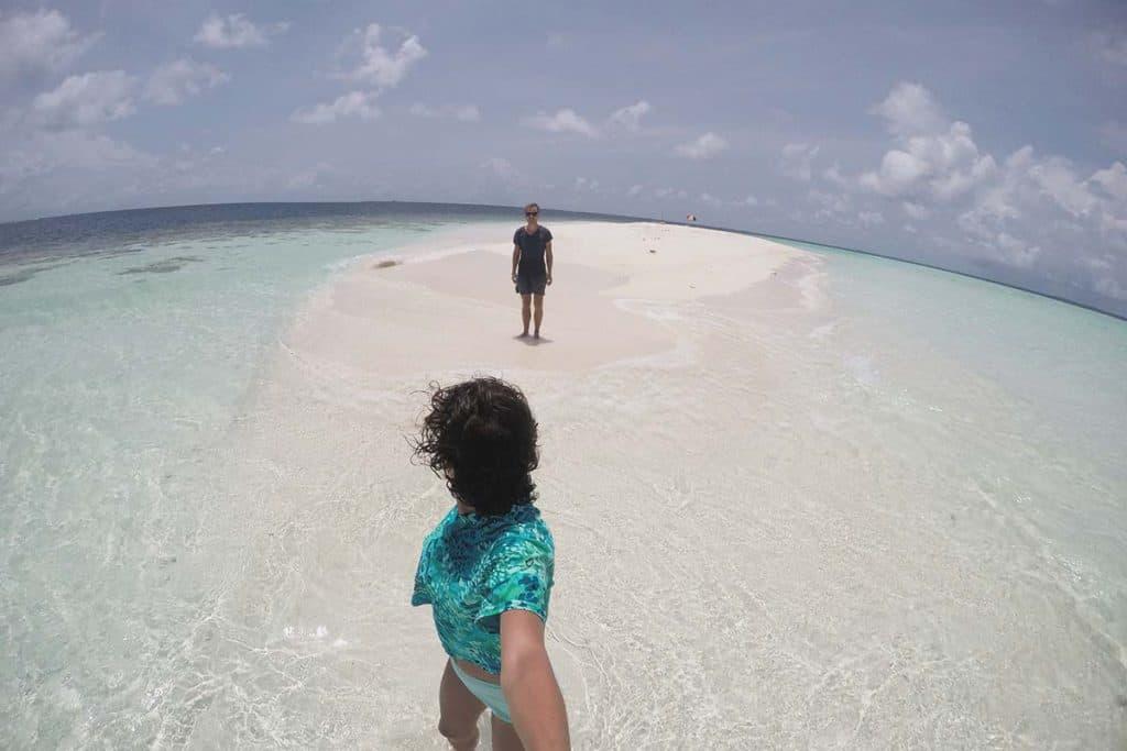 Banco de arena en Maldivas: cómo llegar