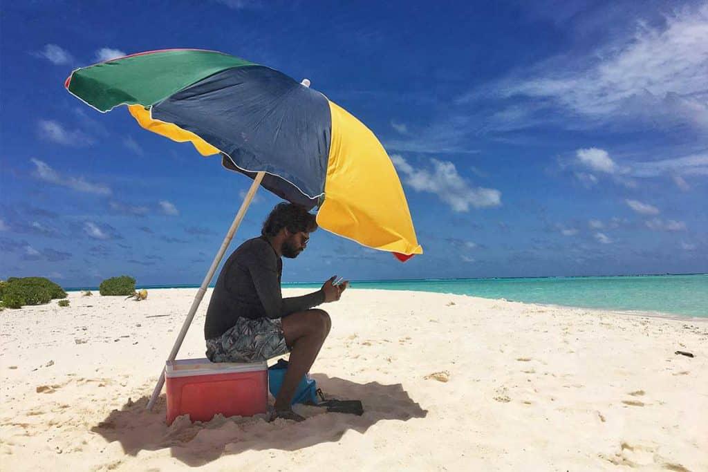 Viajar a Maldivas: excursión a un banco de arena