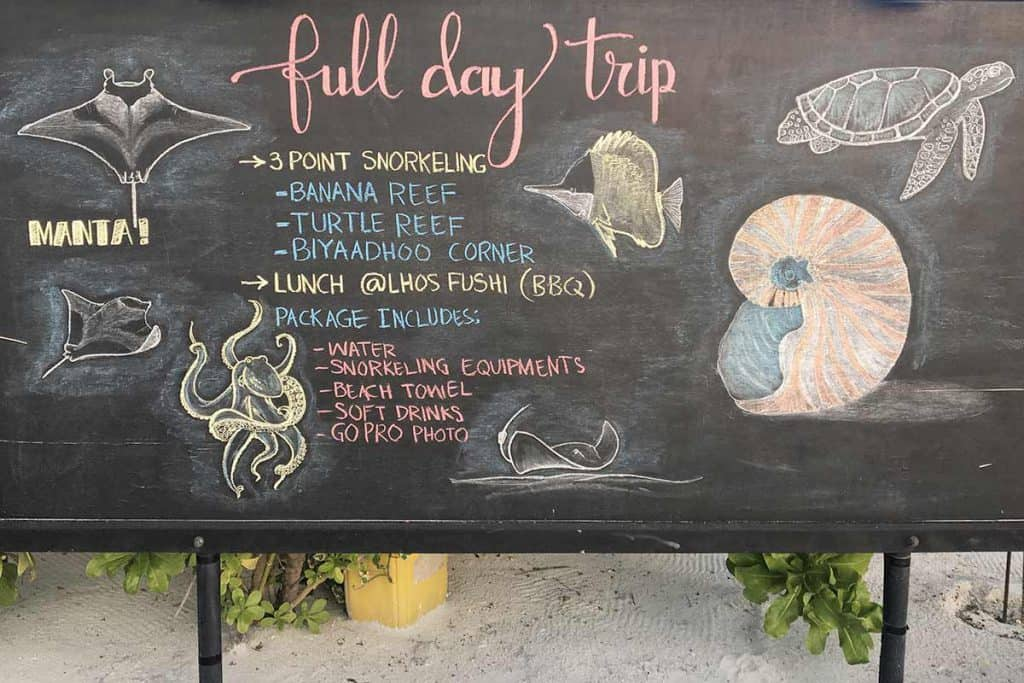 Actividades en Maafushi: snorkel
