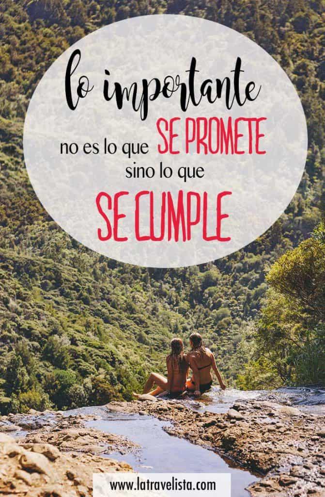 Lo importante no es lo que se promete sino lo que se cumple