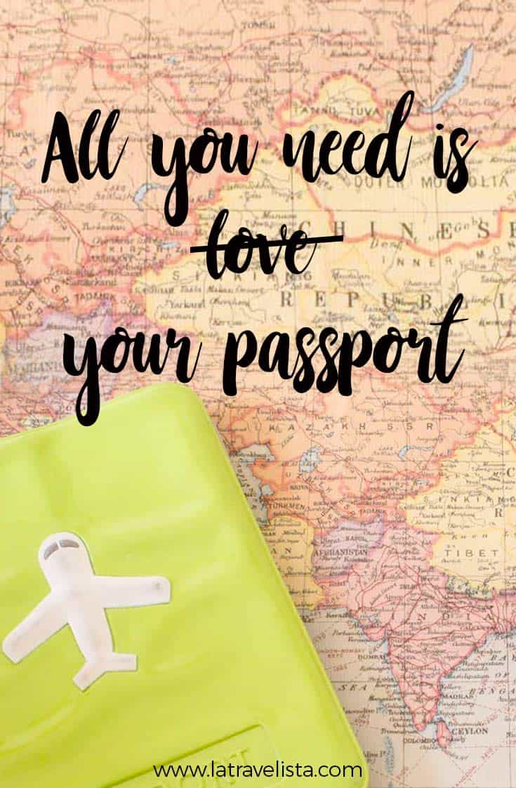 All you need is your passport