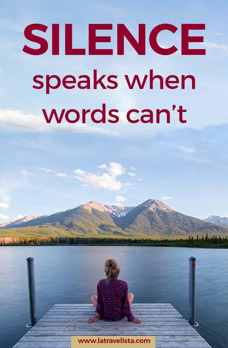 silence speaks when words can't