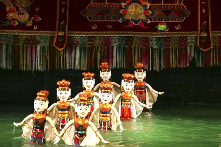 Marionetas de agua en Hanoi