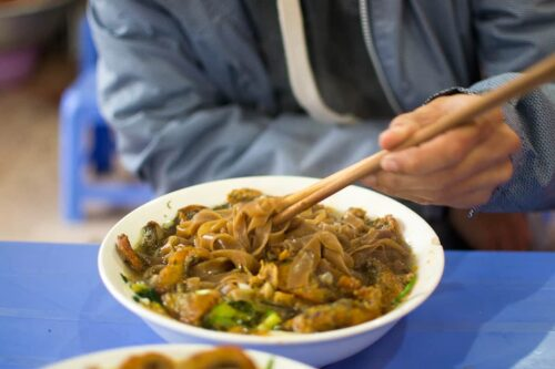 Comida callejera en Hanoi