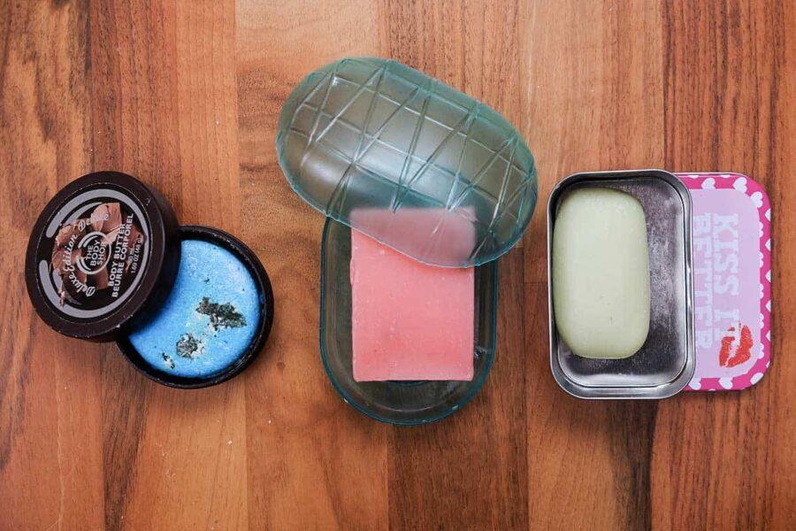 La maleta perfecta: utiliza jabones sólidos