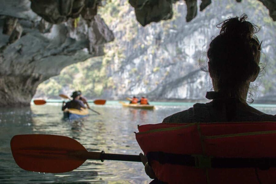 kayak en Ha Long Bay