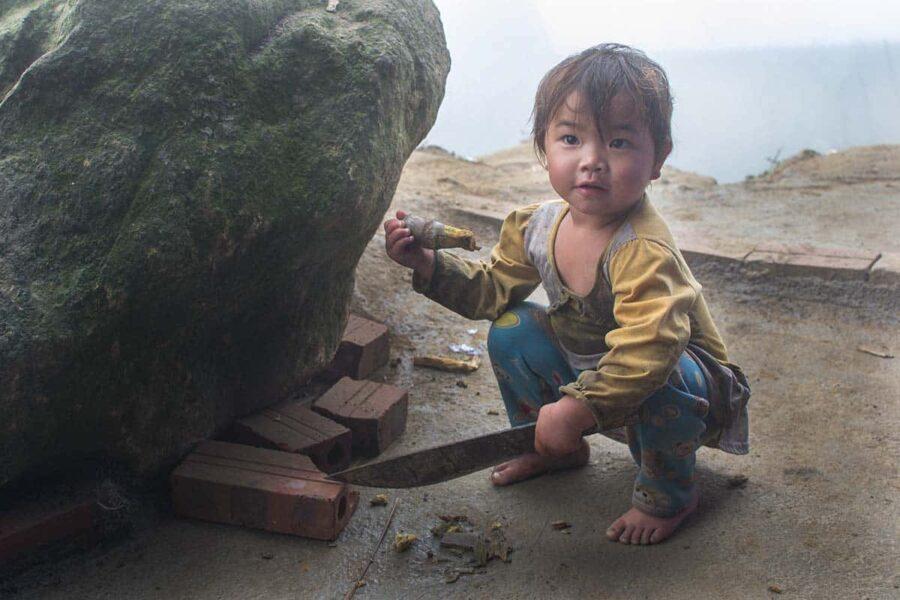niños en Sapa