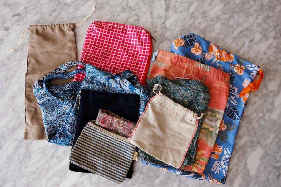 organizar la maleta con bolsas de tela