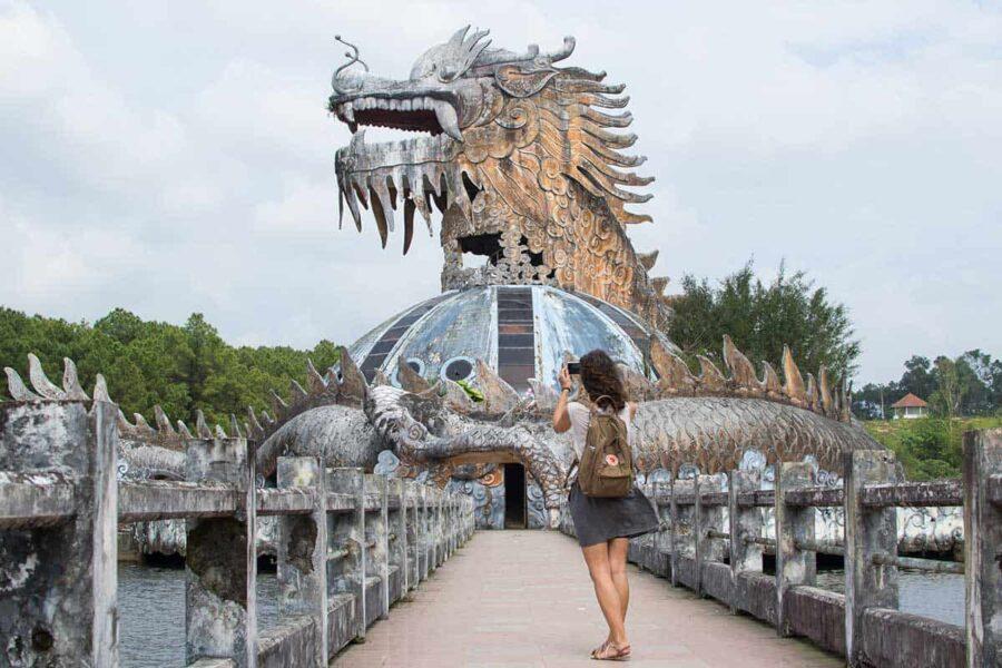 Parque abandonado en Hué