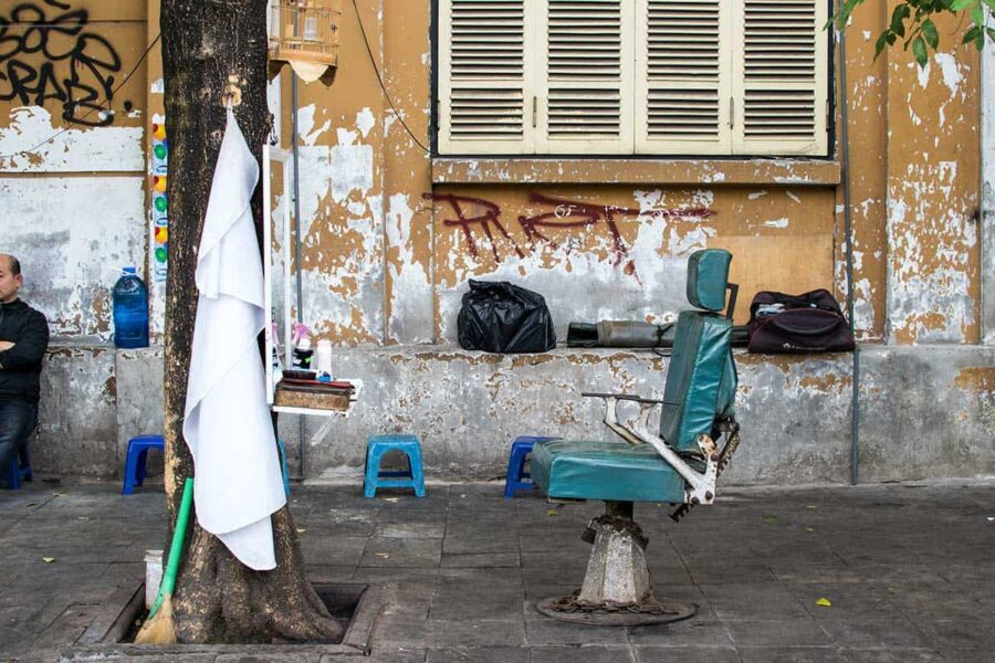 Peluqueria hipster en Hanoi