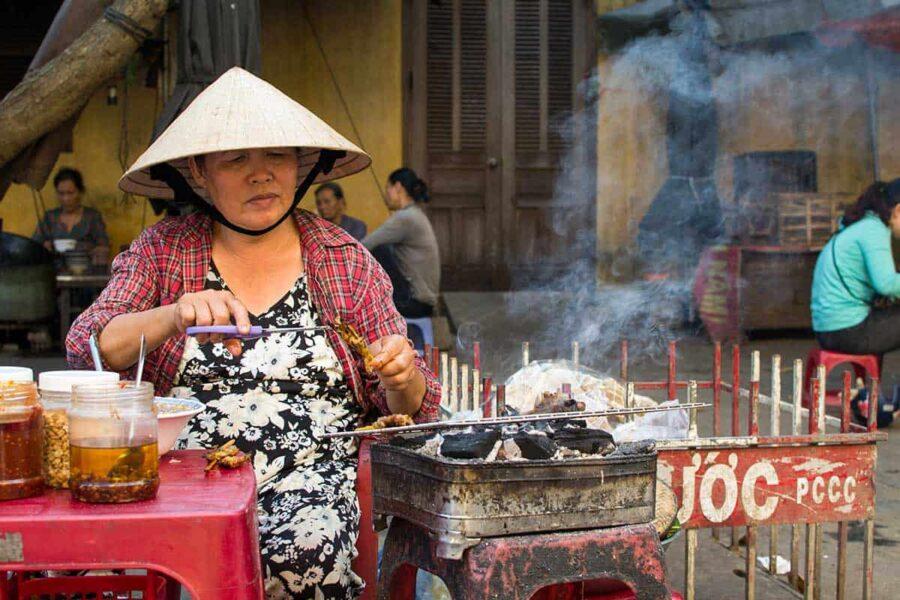 Comida callejera en Vietnam