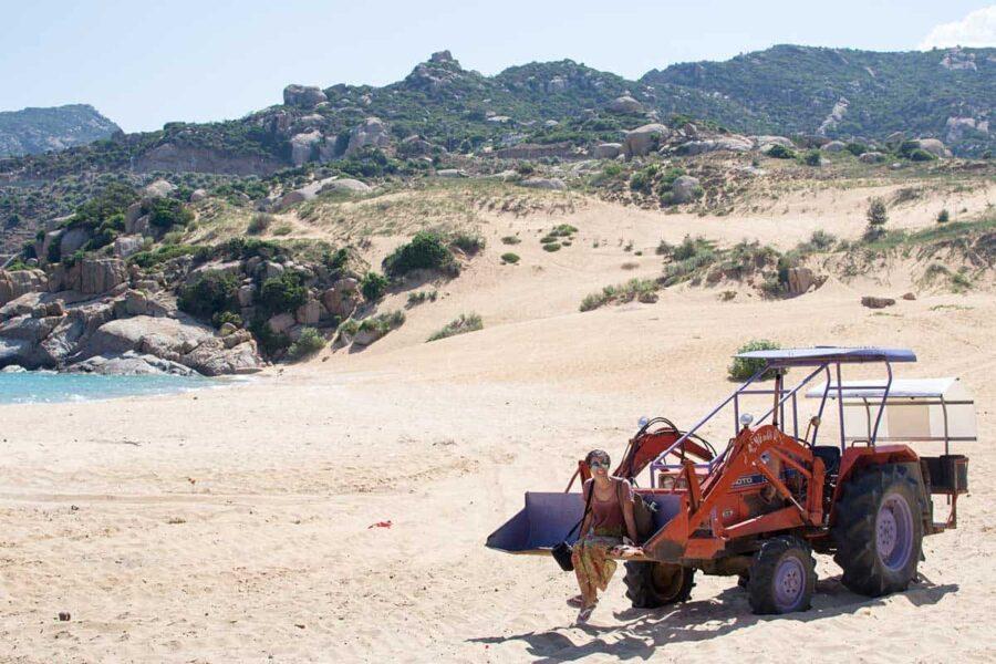 Experiencias en Vietnam: ir a la playa en tractor