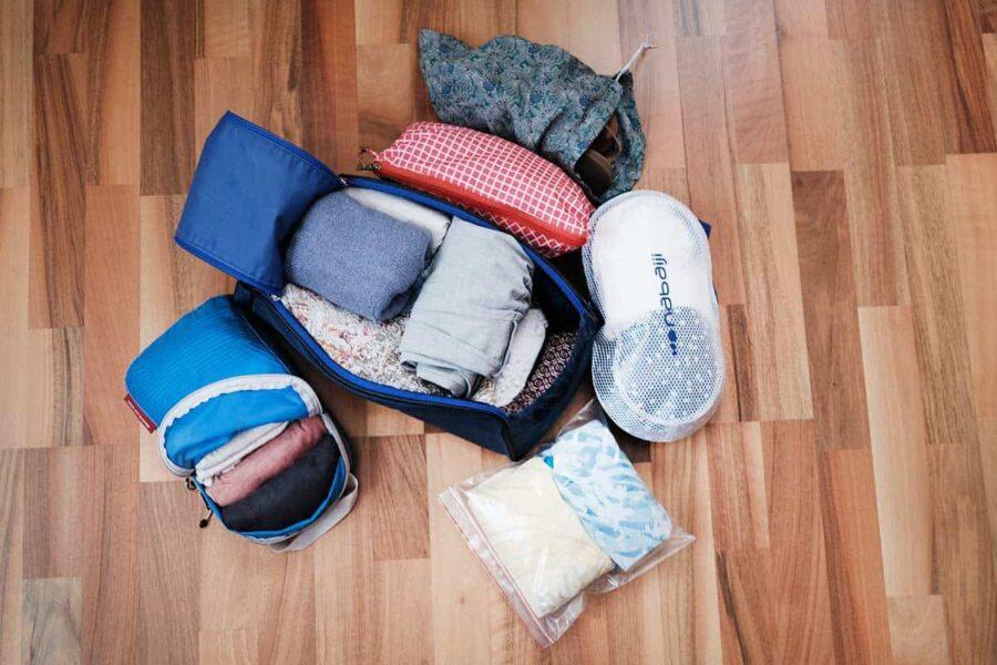 organizar la maleta con diferentes packing cubes