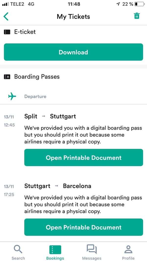 Boarding pass kiwi