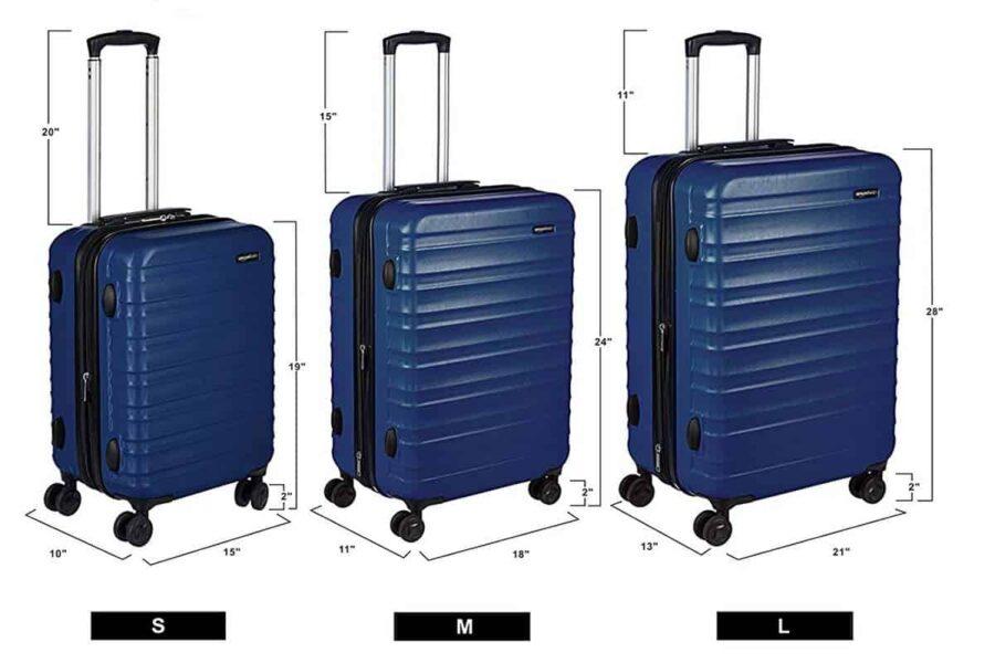 Mejor maleta dura: AmazonBasics-Hardside-spinner