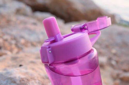 Botella agua reutilizable plastico