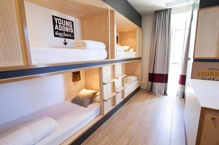 Dormitorios Toc Hostel Madrid.