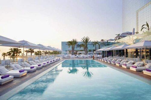 Piscina W Hotel, hotel de lujo en Barcelona