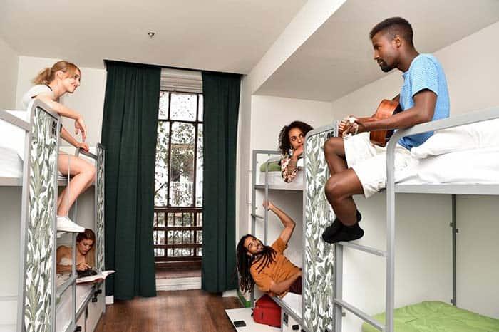 Dormitorios Cat´s hostel Madrid.
