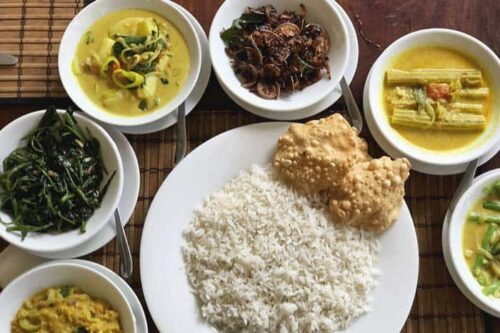 Comida tradicional en Sri Lanka