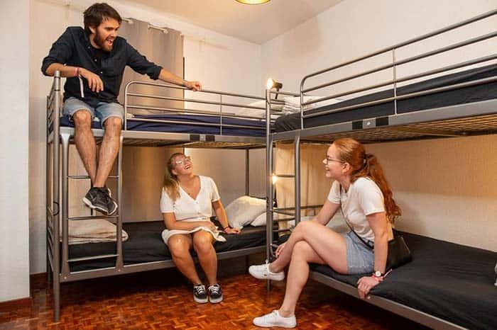 Dormitorios hostel one Madrid.