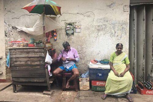 Mercado local en Colombo, fieta de colores