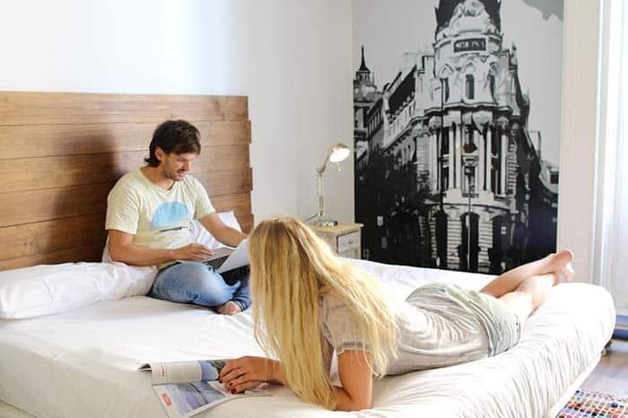 Dormitorios Safestay Madrid.