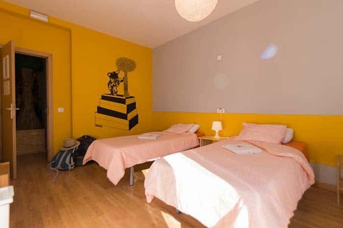 Dormitotios Sungate hostel Madrid.