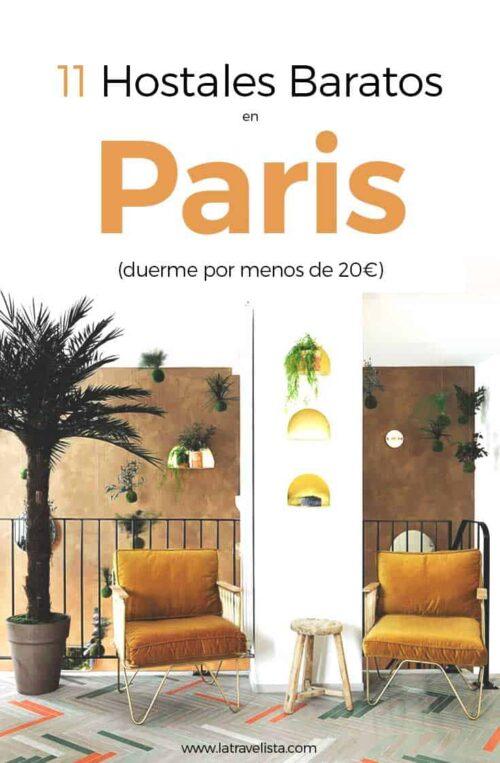 11 hostales baratos en París, Francia