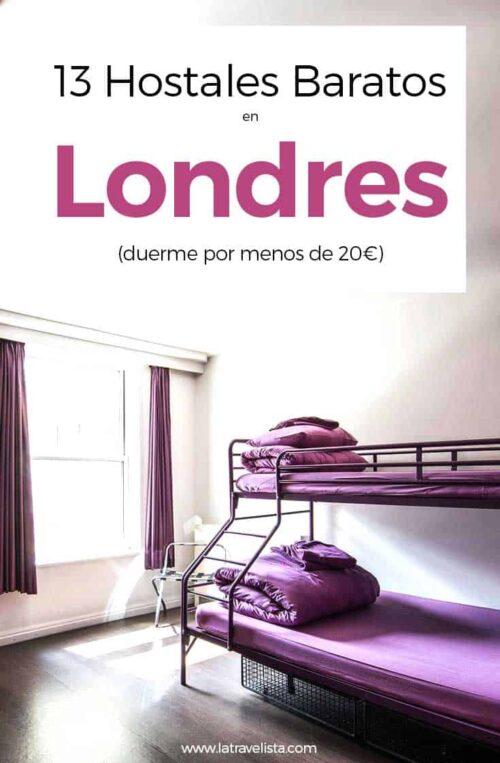 13 hostales baratos en Londres para dormir bien