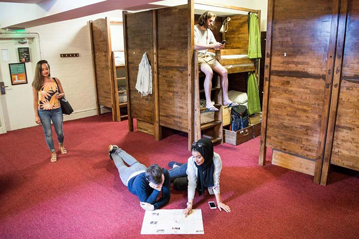 Dormitorios-Palmers-lodge-Hillspring-hostel en Londres.