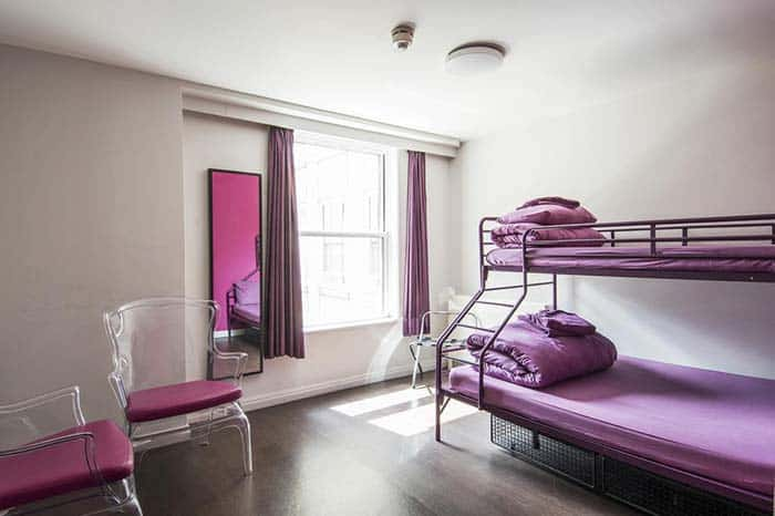Dormitorios-Safestay-Elephan-and-Castle en Londres.