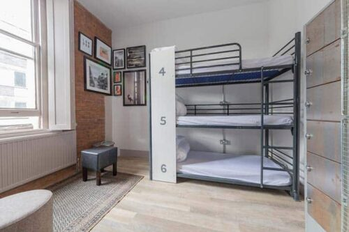 Dormitorios del PubLove-hostel-Londres.
