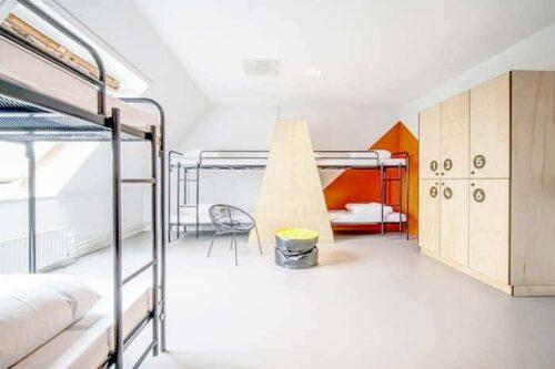 Dormitorios del hostal Via Amsterdam.