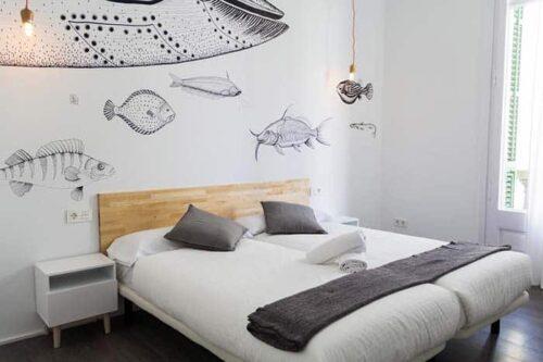 Habitacion privada de Radamon Hostel en Barcelona