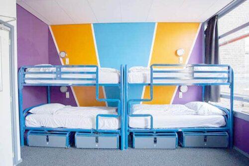 Dormitorios del hostal Flying, Amsterdam.