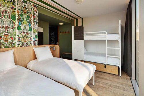 habitacion del hostal Generator en Amsterdam.