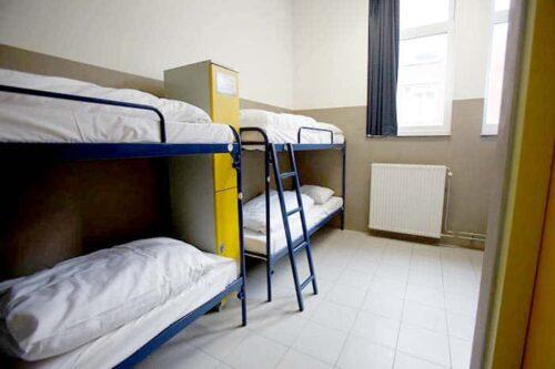 Dormitorios del hostal Jordan Christian en Amsterdam, Holanda.