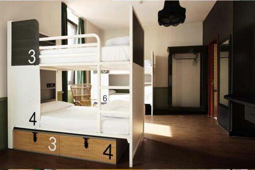 habitacion del hostal generator en Roma, Italia.