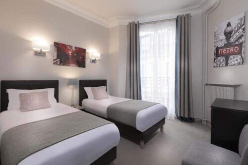 Habitacion compartida del Hotel Charles Floquet.