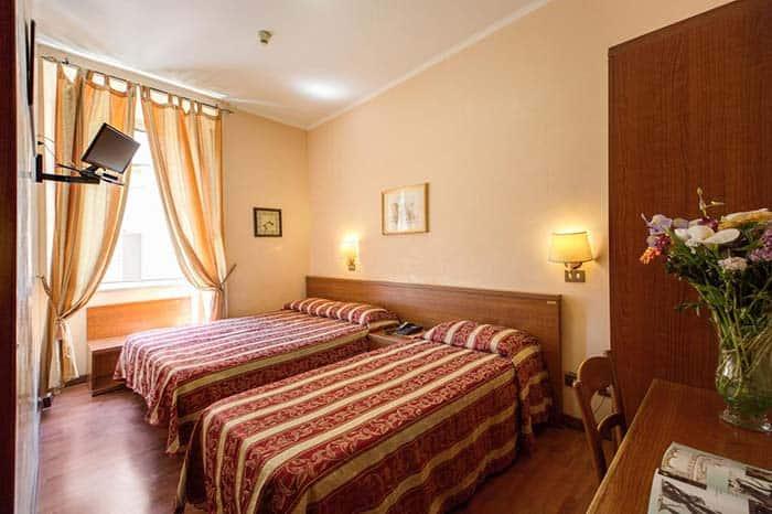 Habitacion del Buonarroti Hotel en Roma.