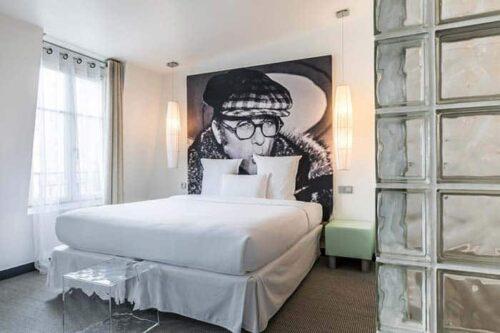 Habitacion del Kube Hotel en Paris.